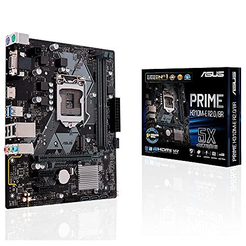 Asus H310M-E R 2.0, Placa-mãe Intel LGA-1151 mATX, DDR4 - 2666MHz, HDMI, Sata 6Gbps, USB 3.1, Gen 1