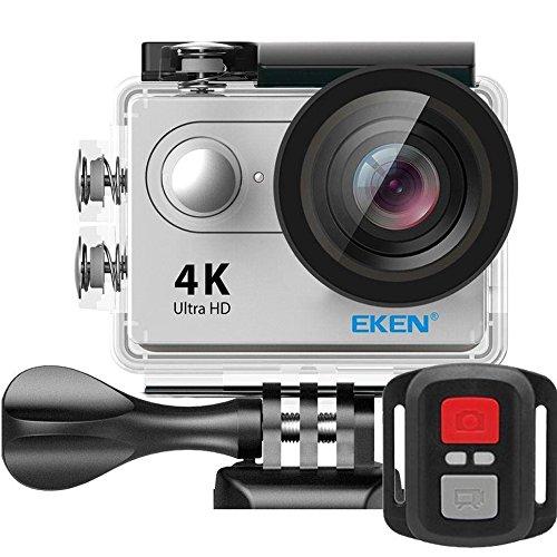 Câmera Filmadora Eken H9R Full HD 4K 12MP com controle remoto Wi-Fi à prova d'água 30 metros, tela LCD 2 polegadas e lente 170 graus - PRATA