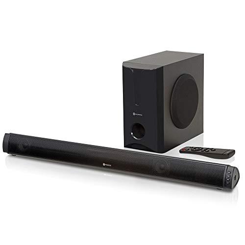 Soundbar 2.1 Canais 180W RMS com Subwoofer, Bluetooth e USB   Goldentec