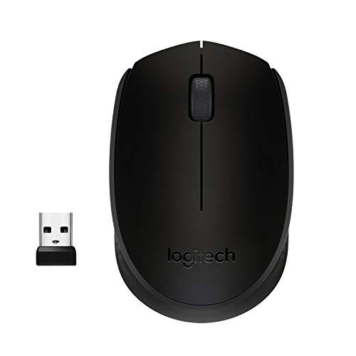 Mouse sem fio Logitech M170 com Design Ambidestro Compacto, Conexão USB e Pilha Inclusa - Preto