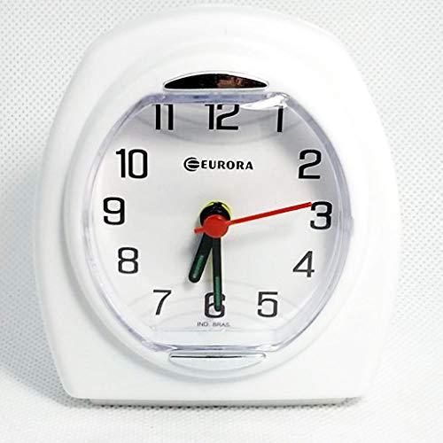 Relogio Despertador Quartz Decorativo Branco Eurora 2695-21