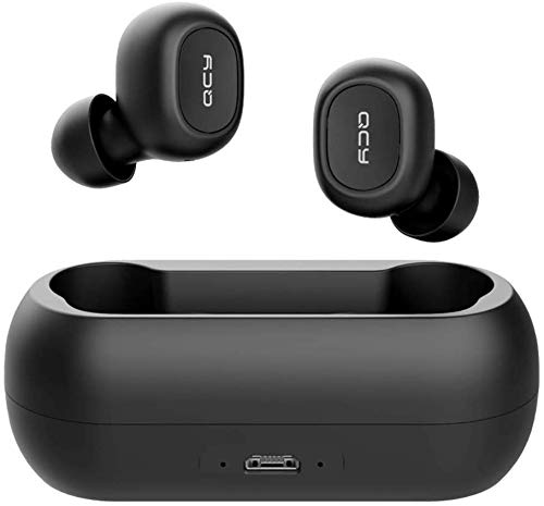 Fone QCY T1C Preto Stereo Bluetooth 5.0 P/Celular Tablet