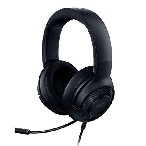 Razer Fone de ouvido Kraken X ultraleve para jogos: som surround 7.1 - moldura de alumínio leve - microfone cardioide dobrável - PC, PS4, PS5, Switch, Xbox One, Xbox Series X & S, Mobile - Preto