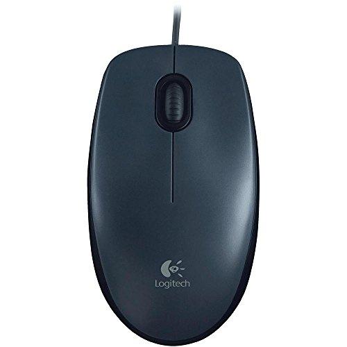 Mouse com fio USB Logitech M90 - Cinza
