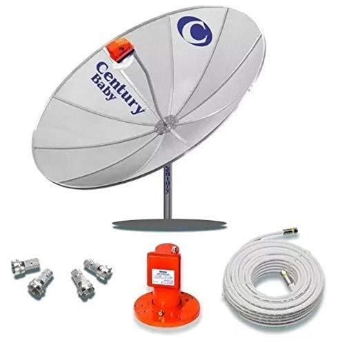 Kit Antena Parabolica 1.70 mono ponto S2 Super Digital Century