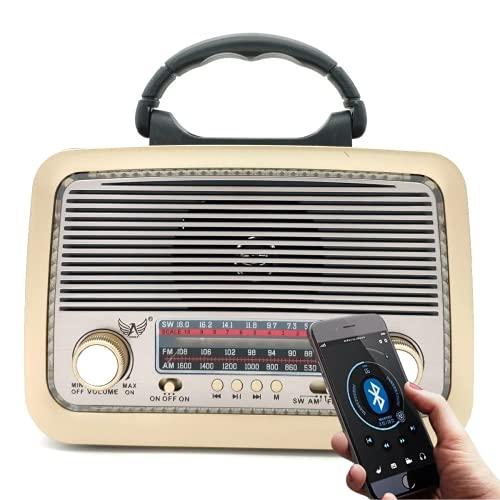 Rádio Retrô Portátil Clássico Am/fm/sw Entrada Usb