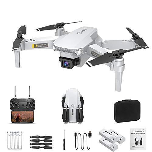 Drone QUANXI HJ-15 dobrável com câmera 1080P HD, velocidade de vôo de 3 níveis, transmissão ao vivo FPV, tempo de vôo longo, 3D Flip,WiFi 120 ° grande angular, modo sem cabeça para iniciantes