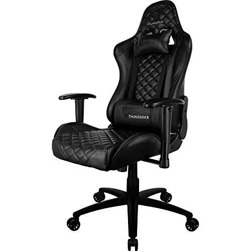 Cadeira Gamer Profissional TGC12 Preta ThunderX3.
