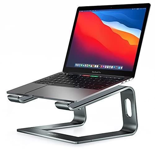 Nulaxy Suporte para laptop, suporte ergonômico de alumínio para laptop para mesa, suporte destacável para notebook compatível com MacBook Air Pro, Dell XPS, mais laptops de 10 a 16 polegadas - Cinza