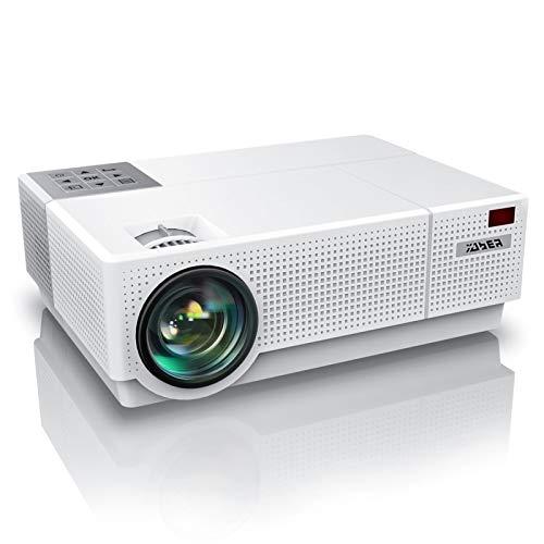 Projetor YABER Y31 Native 1920x 1080P 7200 Lux Upgrade Full HD Video Projector, ± 50° 4D Correção Keystone Suporte 4K, LED LCD Home Theater Projector Compatível com telefone, PC, TV Box, PS4