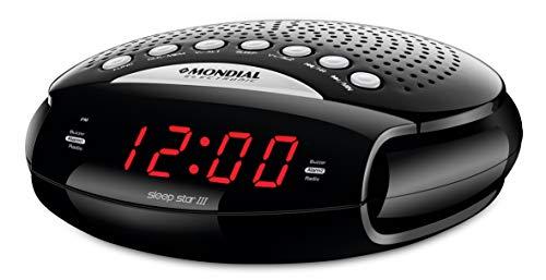 Rádio Relógio Mondial, Sleep Star III, Display Digital, Bivolt, Preto - RR-03