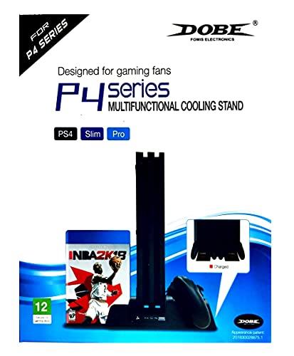 Base Vertical Carregador Cooler 3 In1 Ps4,Slim e Pro