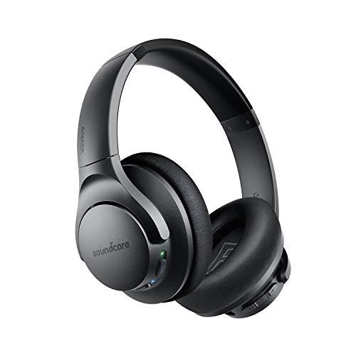 Anker Soundcore Life Q20 Fone de ouvido híbrido com cancelamento de ruído ativo, fones de ouvido Bluetooth sem fio, 40 horas de reprodução, áudio de alta resolução, graves profundos, fones de ouvido de espuma de memória, para viagens, escritório em casa