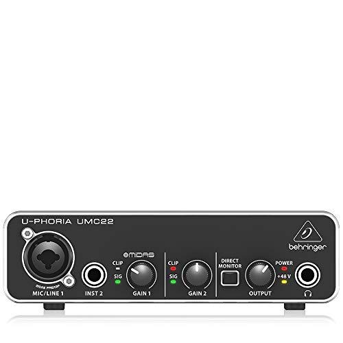 Interface de Áudio - UMC22, Behringer