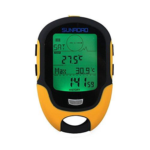 Docooler Sunroad FR500 Termômetro de bússola com altímetro digital LCD multifunções termômetro higrômetro Previsão meteorológica Lanterna LED