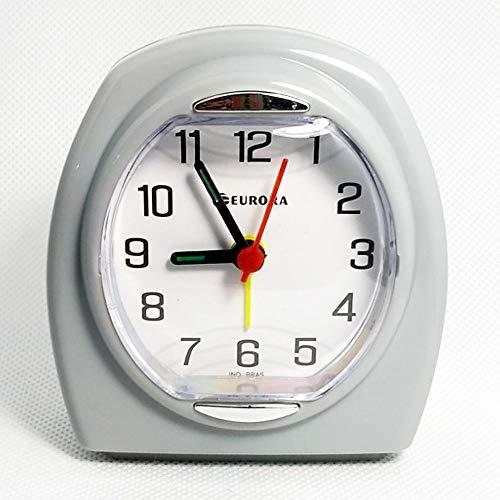 Relogio Despertador Quartz Decorativo cinza Eurora 2695-24