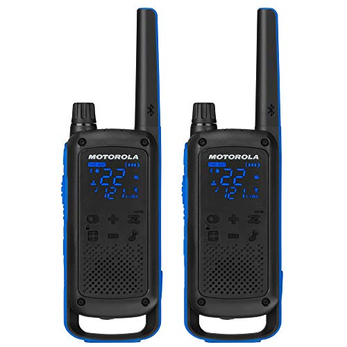 Motorola Talkabout T800 Rádios bidirecionais, pacote com 2, preto/azul