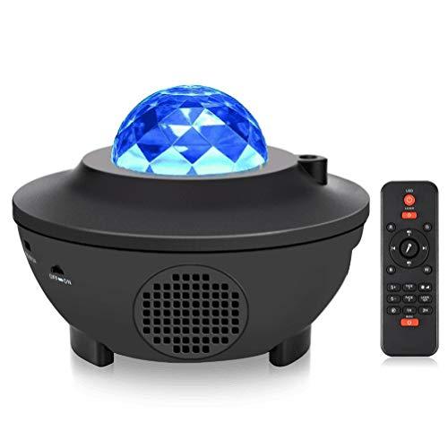 Projetor de luz estrelar de LED Funien, ativado por som, para iluminação RGBW de palco, caixa de som bluetooth para música, luz noturna, luzes para festa de Natal KTV, com controle remoto