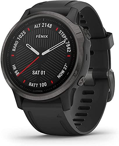 Relógio Smartwatch Fenix 6S Garmin Sapphire Preto 010021597F