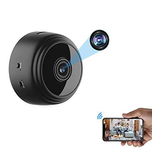 Mini câmera espiã WiFi OVEHEL HD 1080P sem fio, câmera de vídeo escondida, pequena câmera de babá com visão noturna e movimento ativado, uso interno, câmeras de segurança, câmera de vigilância para carro, home office