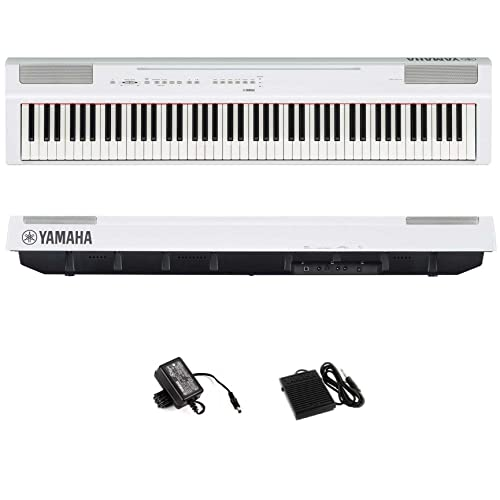 Piano Digital 88 Teclas c/ Fonte P125WH Branco YAMAHA, Yamaha, P125WH