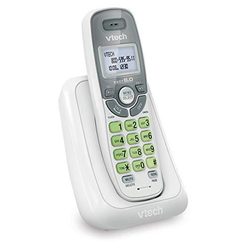 VTech DECT 6.0 Telefone sem fio, Sem sistema de resposta, Branco, 3.50 x 3.50 x 7.00 Inches