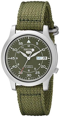Relógio masculino Seiko SNK805 Seiko 5 automático de aço inoxidável com tela verde