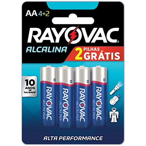 Pilha, Rayovac, 20871, Azul, Aa, Pequena, Pacote de 6