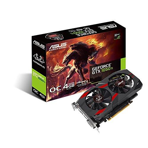Placa de Vídeo VGA Asus NVIDIA GeForce GTX 1050 Ti 4GB GDDR5 - CERBERUS-GTX1050TI-O4G 90YV0A74-M0NA00