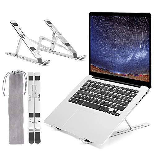 Suporte para laptop, portátil, ajustável, de alumínio, com resfriamento ventilado