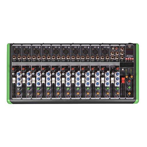 MESA DE SOM 12 CANAIS COM USB/BT PM-1624BT 127V