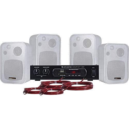 Kit Som Ambiente 400W Musical, Hayonik, Ambience 4000 Branco, 40 W