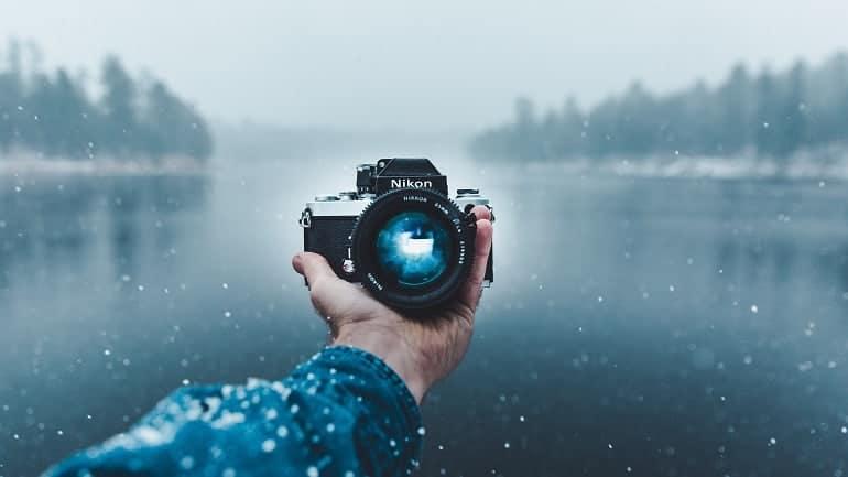 Digitalkamera Schnee