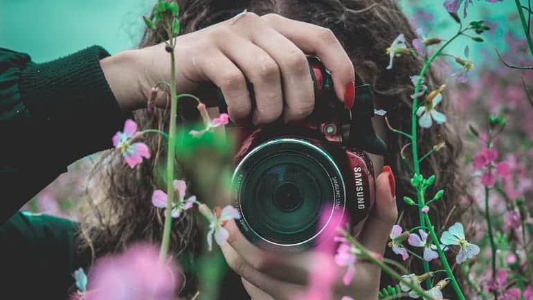 Digitalkamera Frau